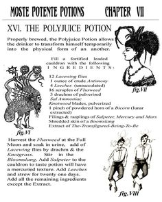 Image result for harry potter potion book pages