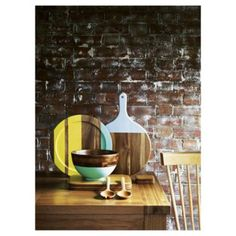 Buy Tesco Round Wood Stripe Tray from our Dining Accessories range - Tesco.com