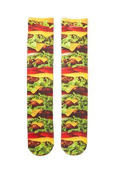 Burger Print Crew Socks | 21 MEN - 2000099302