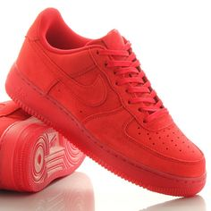 Nike Air Force 1; Solar Red