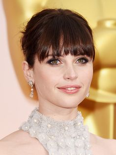 Felicity Jones At The Academy Awards — Bold, Dark Eyes At The Oscars