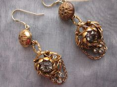 One of a Kind Earrings Repurposed Vintage Jewelry by jryendesigns