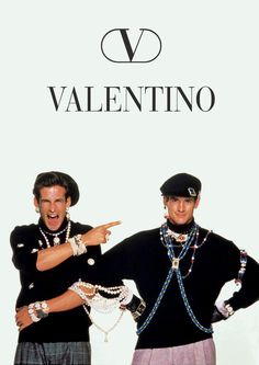 Ricardo Ramos & Joe Gogal in Valentino ad, 1985