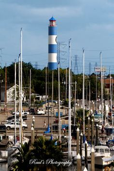 Kemah Lighthouse located southeast of Houston, TX on Galveston Bay
