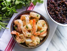 10 Minute Cilantro Lime Shrimp (5 ingredients plus salt & pepper)