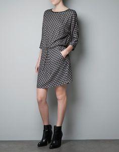 PRINTED DRESS - Woman - New this week - ZARA.Php2,990