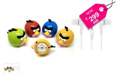 Combo Of Zoo Zoo Angry Bird MP3 Player (Pink) & 3.5 mm In-Ear Earphone - SAVE 40%..Listen to your favourite music wherever you go on the Zoo Zoo Mp3 Player Angry Bird with Earphone.