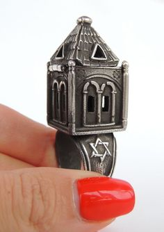 Beautiful 925 Sterling Silver Jewish Wedding Ring Judaica Sterling