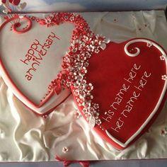Happy Marriage Anniversary Cake, Anniversary Cake Pictures, Anniversary Cake With Name, Wedding Anniversary Wishes, Anniversary Greetings, Romantic Anniversary, Anniversary Gifts, Simple Anniversary Cakes, Wedding Aniversary