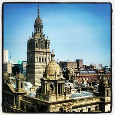 glorious glasgow in the sun by @rubber_gub