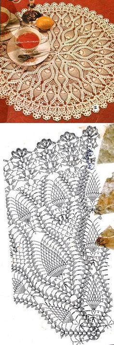 Knitted napkins and trifles for the house Crochet Doily Diagram, Crochet Mandala Pattern, Crochet Art, Crochet Home, Thread Crochet, Filet Crochet, Crochet Doilies, Crochet Patterns, Crochet Table Runner