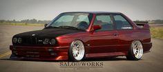 BMW E30 M3 bronze deep dish slammed