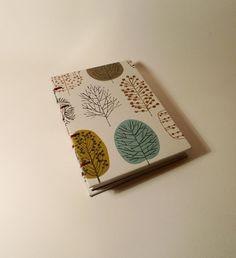 TreePatterned A6 Coptic Sketchbook by DustedSunshine on Etsy, £9.99
