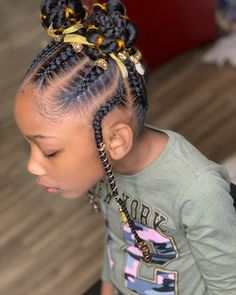 Pretty braided haircut for black girls. Easy Black Girl Hairstyles, Toddler Braided Hairstyles, Natural Hairstyles For Kids, Natural Hair Styles, Kid Hairstyles, Little Girl Braid Styles, Little Girl Braids, Braids For Kids, Girls Braids