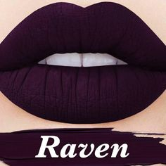 LimeCrime Raven Velvetine I wish I could get this color for my hair