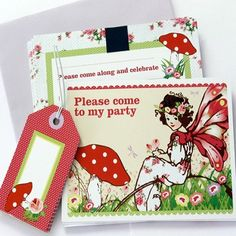 Ruby Rabbit Partyware - Whimsical Fairy Party Invitations