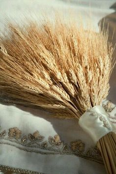 """this is amazing.my wedding bouquet years ago) consisted of wheat, barley, and oats.the """"cuff"""" was similar to this one.and people laughed at me then! Wheat Wedding, Wedding Bouquets, Wedding Flowers, Golden Harvest, Persian Wedding, Iranian Wedding, Fields Of Gold, Wheat Fields, Autumn Wedding"""