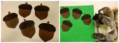 5 little acorns