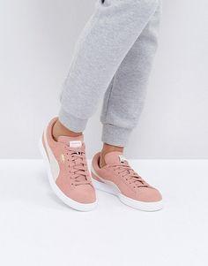 e43d585f18fda6 PUMA Suede Classic Sneakers In Pink. NUDEVOTION. Shop Women s ...