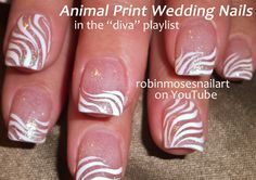 Nail-art by Robin Moses - Wedding Nails for the Diva :D