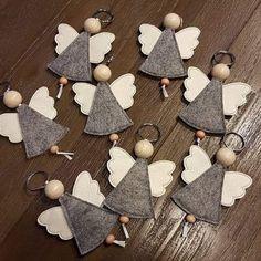 weihnachten engel on Instagr - Christmas Makes, Felt Christmas, Christmas Angels, Christmas Time, Christmas Ornaments, Felt Crafts, Diy And Crafts, Crafts For Kids, Wood Crafts