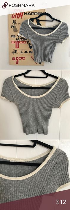 Urban Outfitters Ribbed Crop Top Excellent Urban Outfitters crop top in great condition. Goes with almost anything, was a go-to in my closet! Has a good amount of comfy stretch, perfect for summer wear or winter layering. Tag size small Urban Outfitters Tops Crop Tops