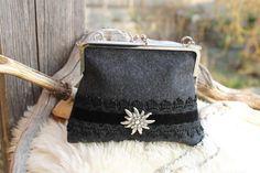 """Trachtentaschen - ♥ Dirndl-Tasche """"Edelweiß"""" ♥ Filz - ein Designerstück von Dirndlprinzessin bei DaWanda"""