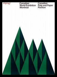 Expo67 (Montreal, Canada) poster designed by Ernst Roch