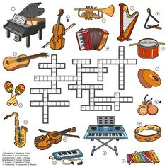 Color puzzle about musical instruments Music Do, Music Games, Jumble Word Puzzle, Music Theory Worksheets, Music Lessons For Kids, Middle School Music, Color Puzzle, Music Activities, Elementary Music