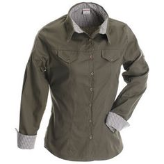 Ruggedwear Loge & Safari Clothing-Fly Catcher – long sleeve with check contrast – Red Bush Clothing in Hoedspruit