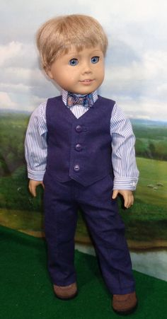 USA  Marines Formal Suit 3 PC 18 in Doll Clothes Fits American Girl Or Boy Dolls