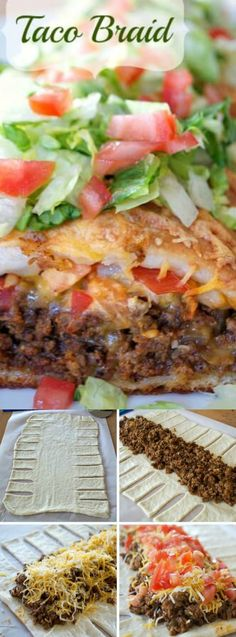This Taco Braid from 365 Days of Baking and More puts a delicious twist on the traditional taco dinner. Wrapped in a pizza dough braid, the perfectly seasoned ground beef is covered with shredded cheese, tomatoes, and anything else you'd put on your tacos to make a perfect taco night dinner!
