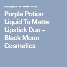 Purple Potion Liquid To Matte Lipstick Duo – Black Moon Cosmetics