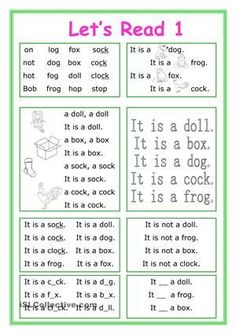 This worksheet is for little kids who start learning English and reading.The vocabulary is for beginners. There are 8 exercises with short Phonics Reading, Reading Comprehension Worksheets, Teaching Phonics, Phonics Worksheets, Teaching Reading, Printable Worksheets, Reading Passages, Learning English For Kids, English Worksheets For Kids
