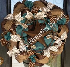 Hey, I found this really awesome Etsy listing at https://www.etsy.com/listing/188535073/turquoise-and-brown-western-star-burlap