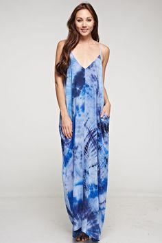 Shades of Blue Maxi Dress