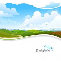 Beautiful scenery vector background0004