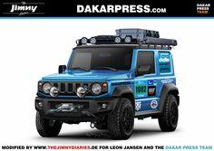 Dakar Presse Team -Jimny - The Jimny Diaries Suzuki Jimny Off Road, New Suzuki Jimny, Suv Trucks, Mini Trucks, Jimny 4x4, Jimny Sierra, Suzuki Swift Sport, Suzuki Cars, Adventure Car
