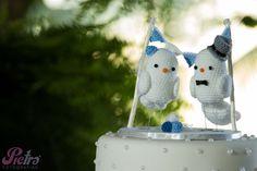 Topo de bolo de passarinhos