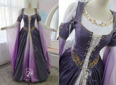 Aug 2019 - Lilac Dragon Gown by Firefly-Path on DeviantArt Medieval Fashion, Medieval Clothing, Gypsy Clothing, Steampunk Clothing, Steampunk Fashion, Medieval Outfits, Gothic Steampunk, Victorian Gothic, Gothic Lolita