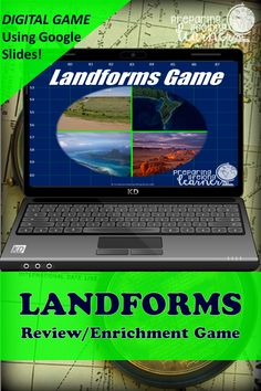 Your middle school social studies students will learn or review a wide variety of land forms with this fun digital game that uses Google Slides.  Perfect for in class or at home enrichment or review! Basic Geography, Social Studies Games, Land Forms, Digital Review, Map Skills, Enrichment Activities, Middle School Teachers, Review Games, Distance