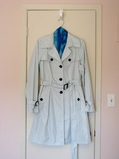 Available @ TrendTrunk.com Monaco Pale Blue Raincoat Outerwear. By Monaco Pale Blue Raincoat. Only $40.00! Blue Raincoat, Trench Coats, Monaco, Blazers, Jackets, Fashion, Down Jackets, Moda, Fashion Styles