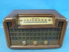 Bendix Modelo 636c Rádio De Tubo De Mesa Madeira VTG Antique Bronze Capa Grill meados do século