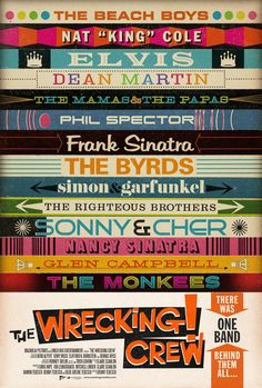 The Wrecking Crew Free Stream. A celebration of the musical work of a group of session musicians known as The Wrecking Crew, a band that provided back-up instrumentals to such legendary recording artists as Frank Sinatra, The Beach Boys and Bing Crosby. Nancy Sinatra, Brian Wilson, Joe Cocker, The Beach Boys, Music Film, Film Movie, Les Doors, The Ventures, Best Kids Watches