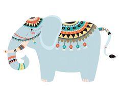 Elephant Art Print Elephant Art Elephant Art Nursery