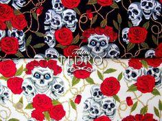 Nos declaramos fans de estas calaveras 😍😍?wwww.telaspedro.com/patchwork-calaveras-y-rosas.html #skulls #calaveras #patchwork #pinup #telas #fabrics #novedades #algodón #cotton