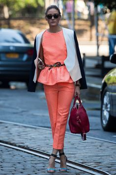 love this suit. #olivia palermo, #style icon, #street fashion