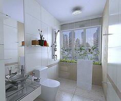 4 Easy Tricks to make your bathroom look big - Home Decoration Big Bathrooms, Modern Bathroom, Master Bathroom, Bathroom Trends, Bathroom Renovations, Bathroom Interior Design, Modern Interior Design, Big Houses, Easy Tricks