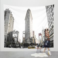 Desaturated New York Wall Tapestry by Nicklas Gustafsson   Society6