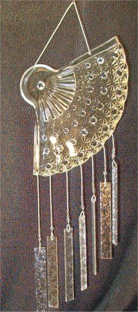unique glass windchime (recycled glass)